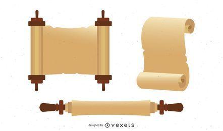 Papeles viejos de los rollos del vector