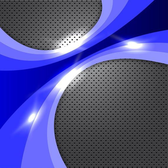 Abstract Blue Glowing Background - Vector download