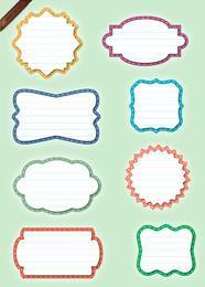 Conjunto de etiquetas de papel - formas
