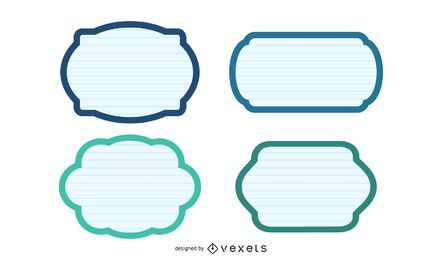 Satz von Papieretiketten - Formen