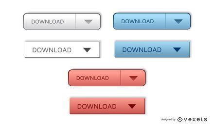 Glänzende Vektor-Download-Schaltflächen