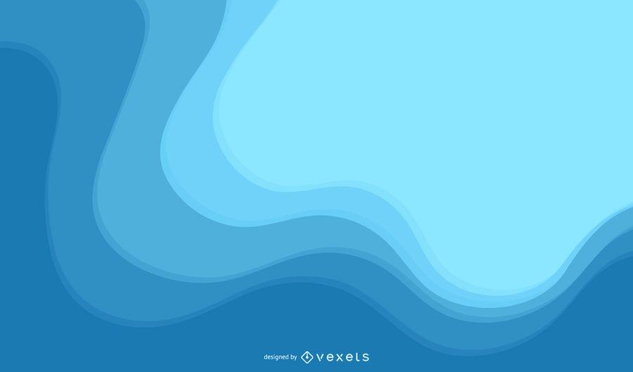 Fondo de vector azul minimalista