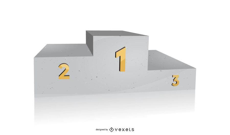 3d Vector Stone Podium