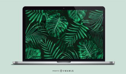 Vektor-Laptop-Modell