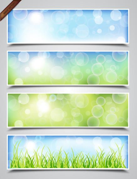 Spring Bokeh Banners