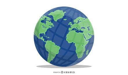 Shiny Vector Earth Globe