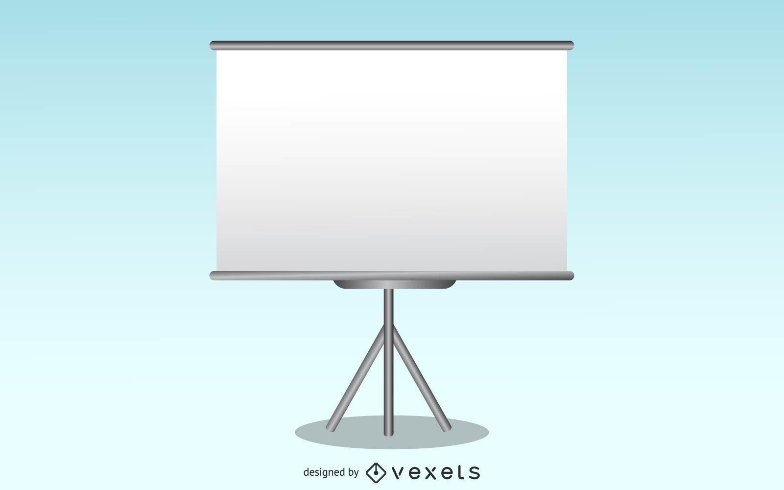 Free Vector Presentation Screen