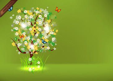 Frühlingsbaum kostenlose Vektor
