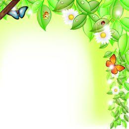 Primavera Hojas Resumen Vector