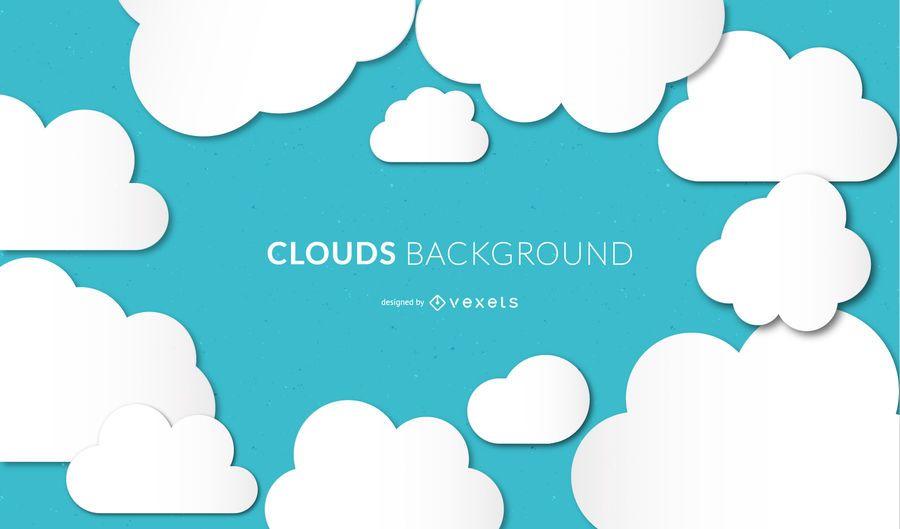 Fundo de nuvens de vetor sem emenda