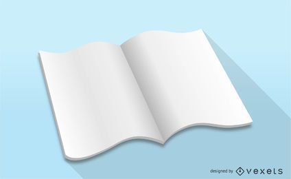 Maquete de revista de vetor