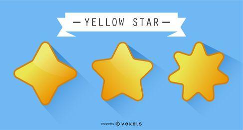 Gelber Vektor-Stern