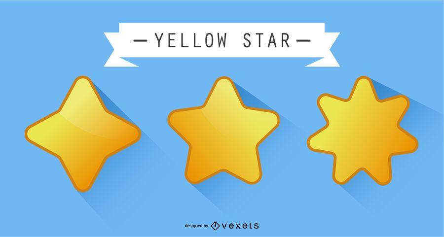 Estrela amarela do vetor