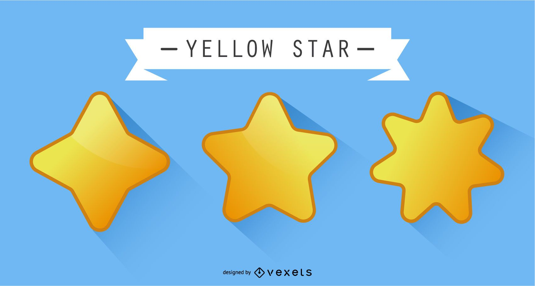 Estrella amarilla del vector