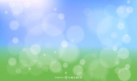 Diseño vectorial de primavera Bokeh