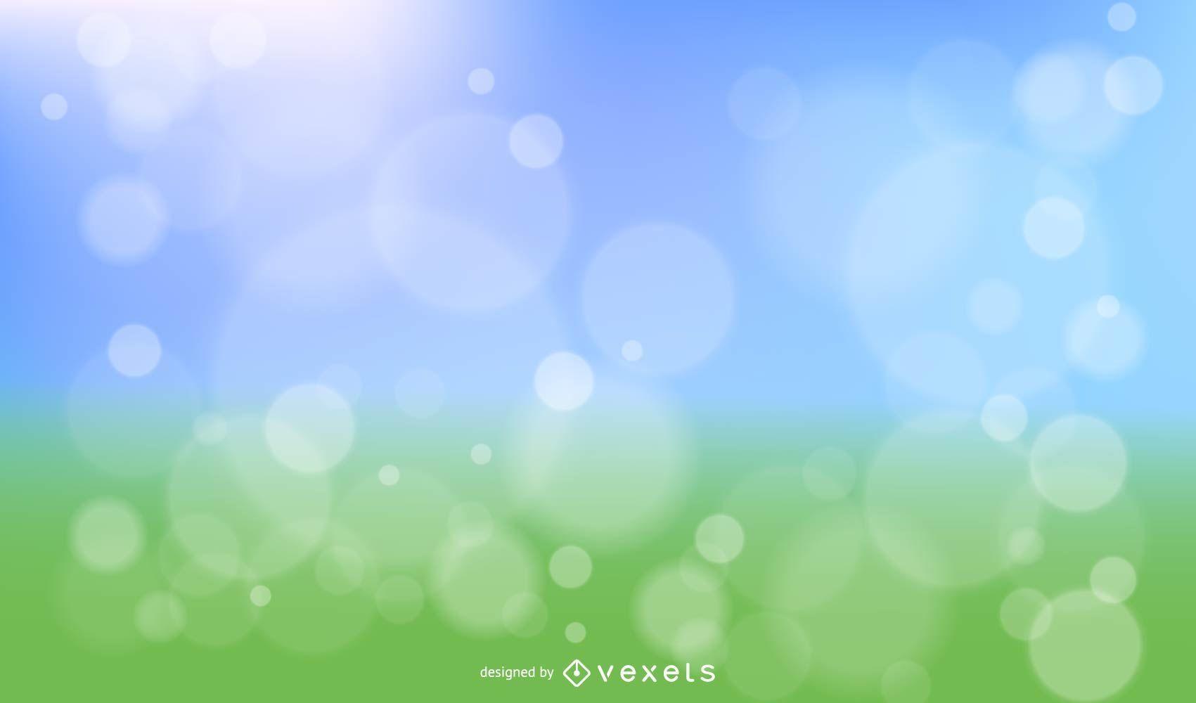 Spring Bokeh vector design