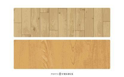 Conjunto de textura de madeira vetorial