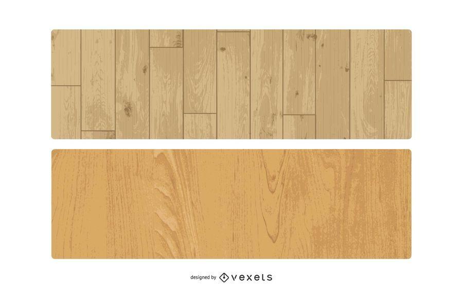 Vektor Holz Textur Set
