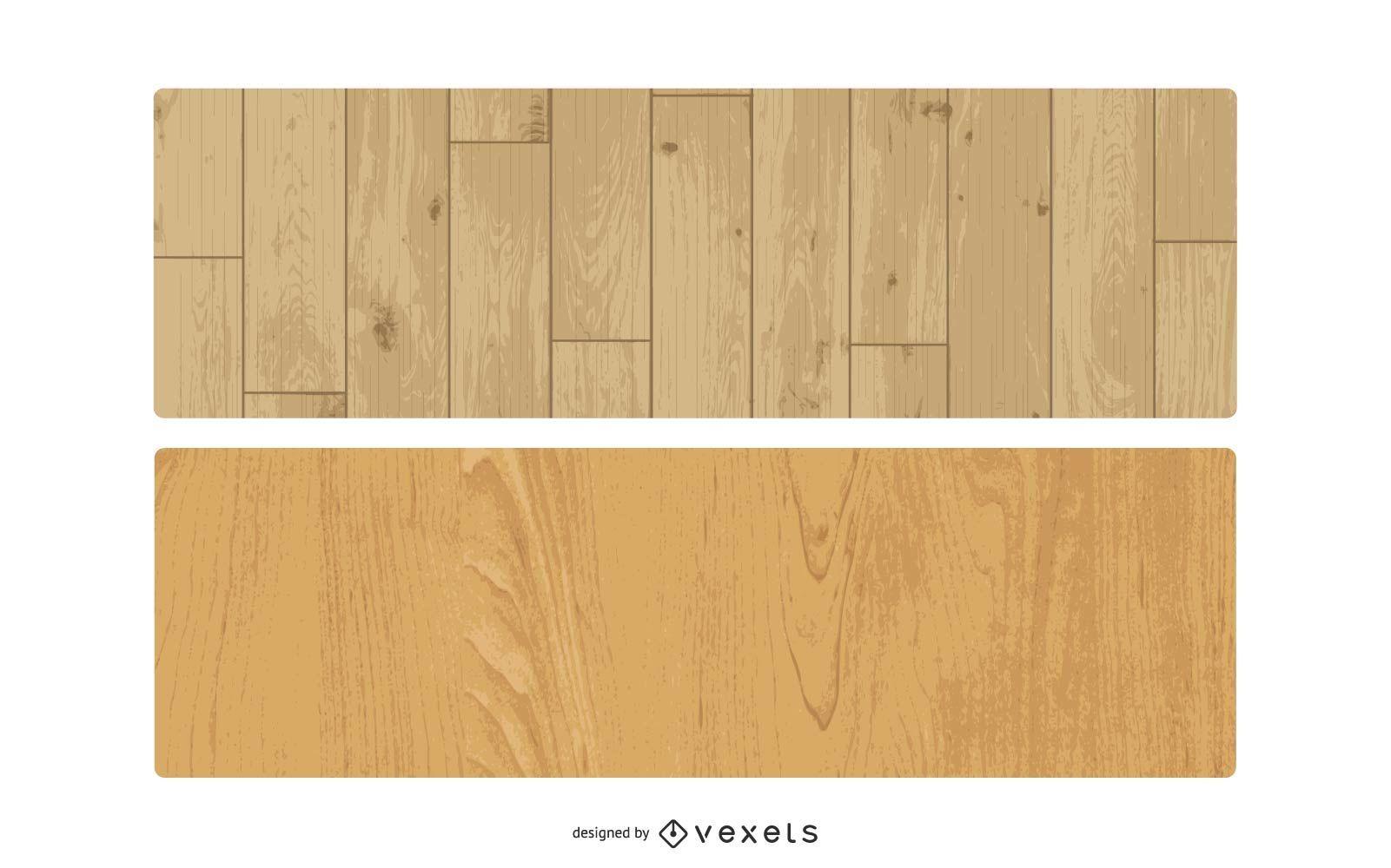 Vector conjunto de textura de madera
