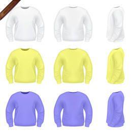 Modelos de camisola Mens Vector
