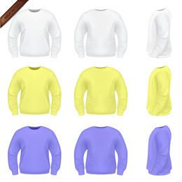 Vector Mens Sweater Templates