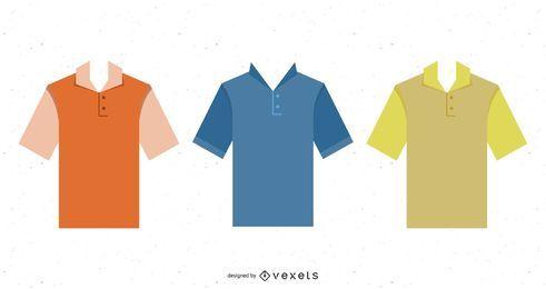 T-shirt do polo dos homens do vetor