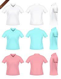 Camisetas vector polo para hombre
