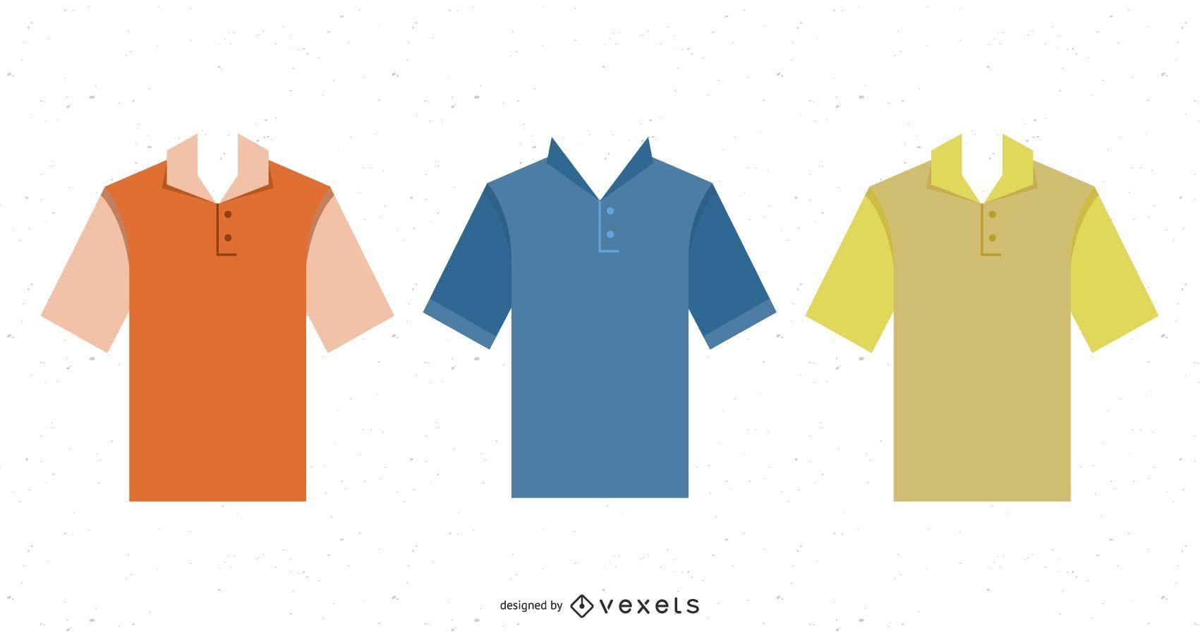 T-shirts Vector Homem Polo