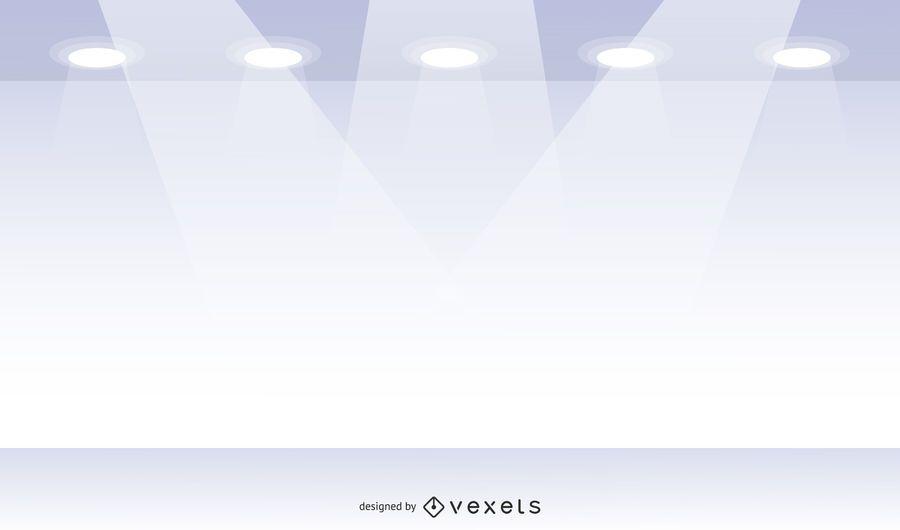 Galería de escaparate blanco de vector