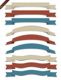 Vector Retro Ribbon Collection