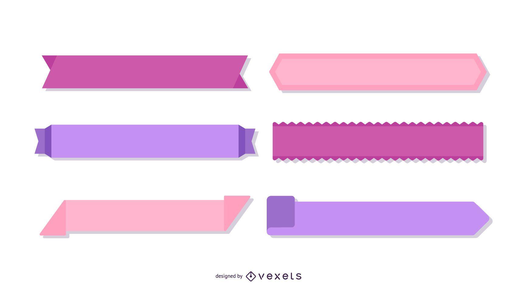 Paquete de cintas de diseño vectorial