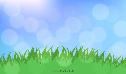 Sommer-Bokeh-Hintergrund
