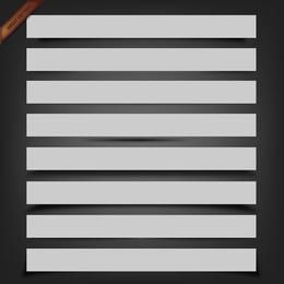Conjunto de sombras de caja de vectores