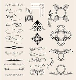 Vector Calligraphic Elements