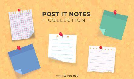 Coleção de notas de post-it