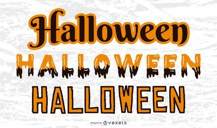 Halloween-Textstile