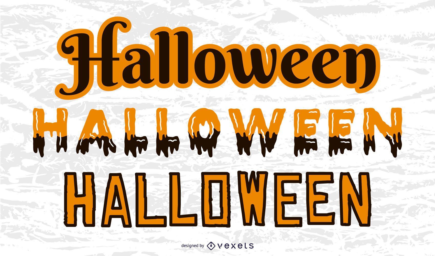 Estilos de texto de Halloween