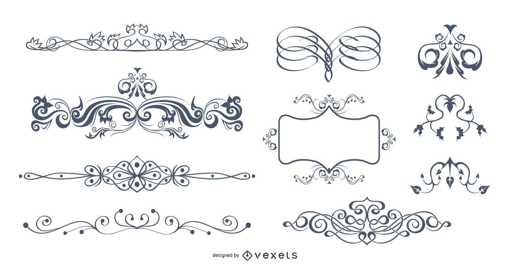 Vector caligráfico