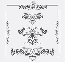 Vector ornamentos com redemoinhos