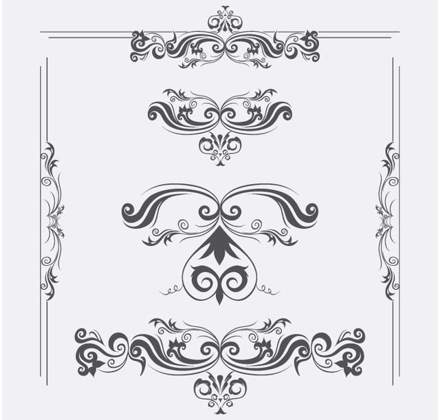 Vector Ornaments with swirls