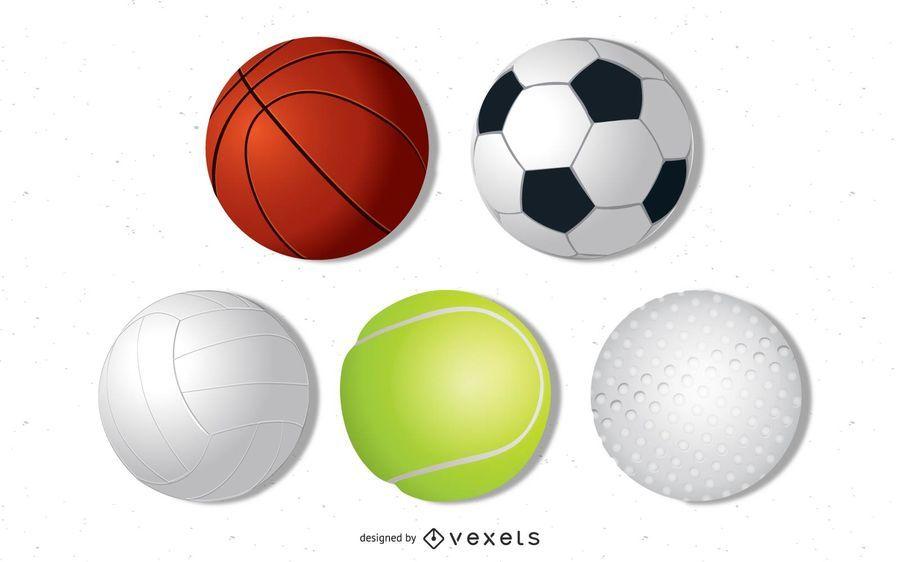 Conjunto de bolas de vector
