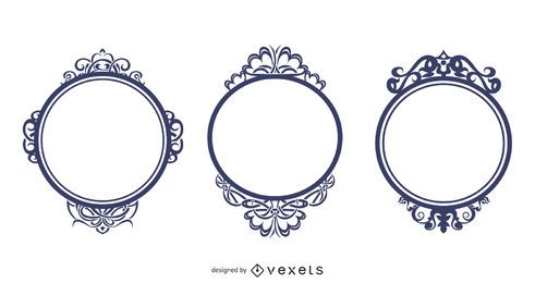 Ornate Frames Vector Set