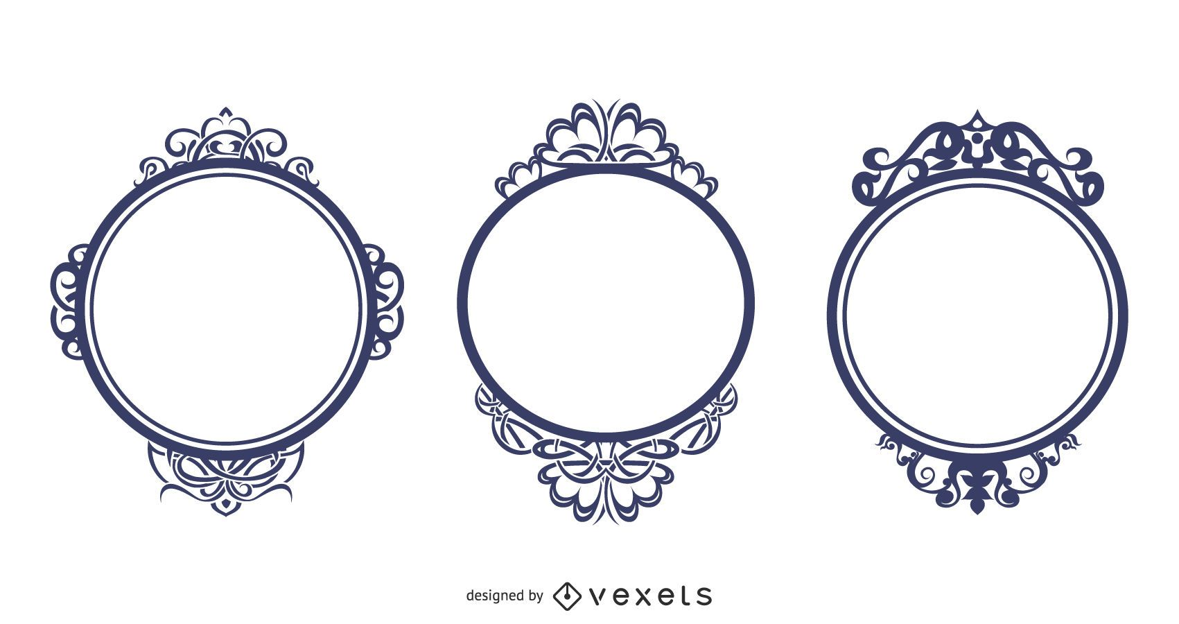 Ornate Frames Vector Set