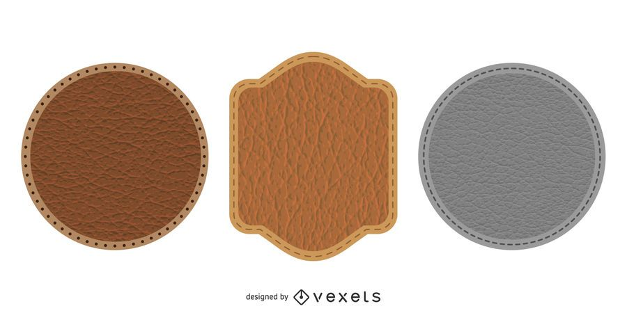 Leather Badges Icon Design