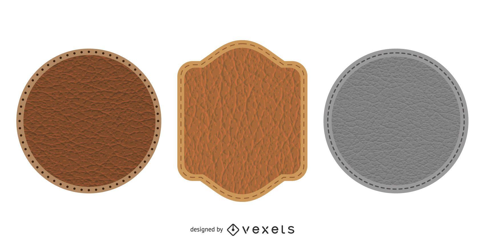 Leather Badges Icon Design