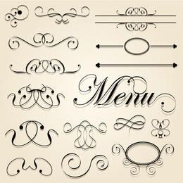 Decorative Calligraphic Vector