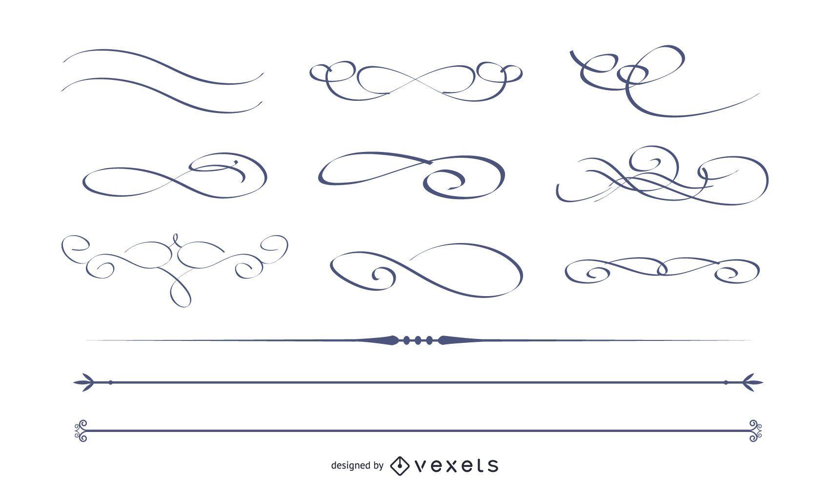 Vector caligráfico decorativo