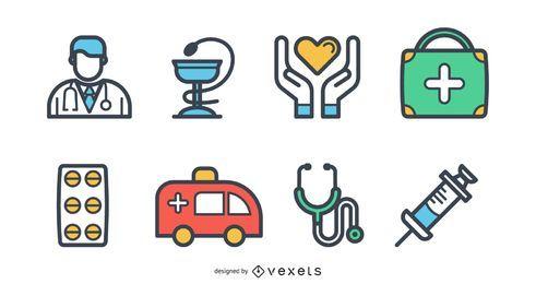 Medizinische Icons