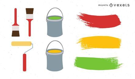 Paint Tools Vector Set