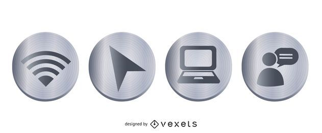 Web Metal Icon Set